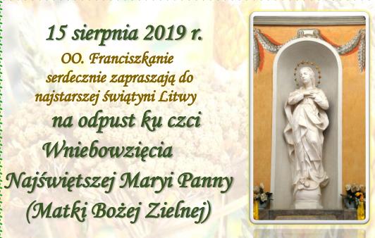 Matki Bożej Zielnej 2019