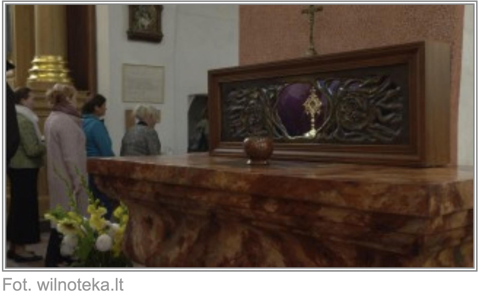 Relikwie bł. Michała Giedroycia w kościele wileńskich franciszkanów