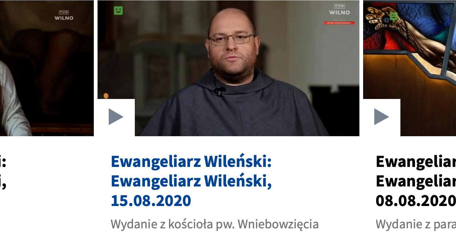 Ewangeliarz Wileński, 15.08.2020