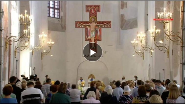 Msza św. z kościoła pw. Wniebowzięcia Najświętszej Maryi Panny w Wilnie